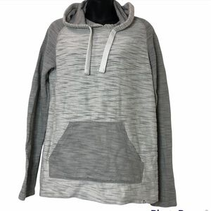 FREE PLANET 🌎 COTTON drawstring hoodie with kangaroo pouch in 2 tones of gray